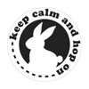 Label keep calm and hop on