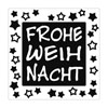 Label Frohe Weihnacht