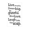 Label Live simply... Use soap.