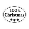 Label 100% Christmas