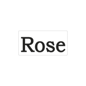 Label Worte Rose